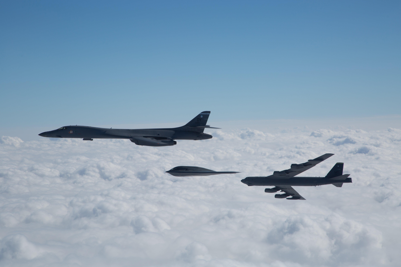 B-1B, B-2A, B-52H [USAF/Sagar Pathak]