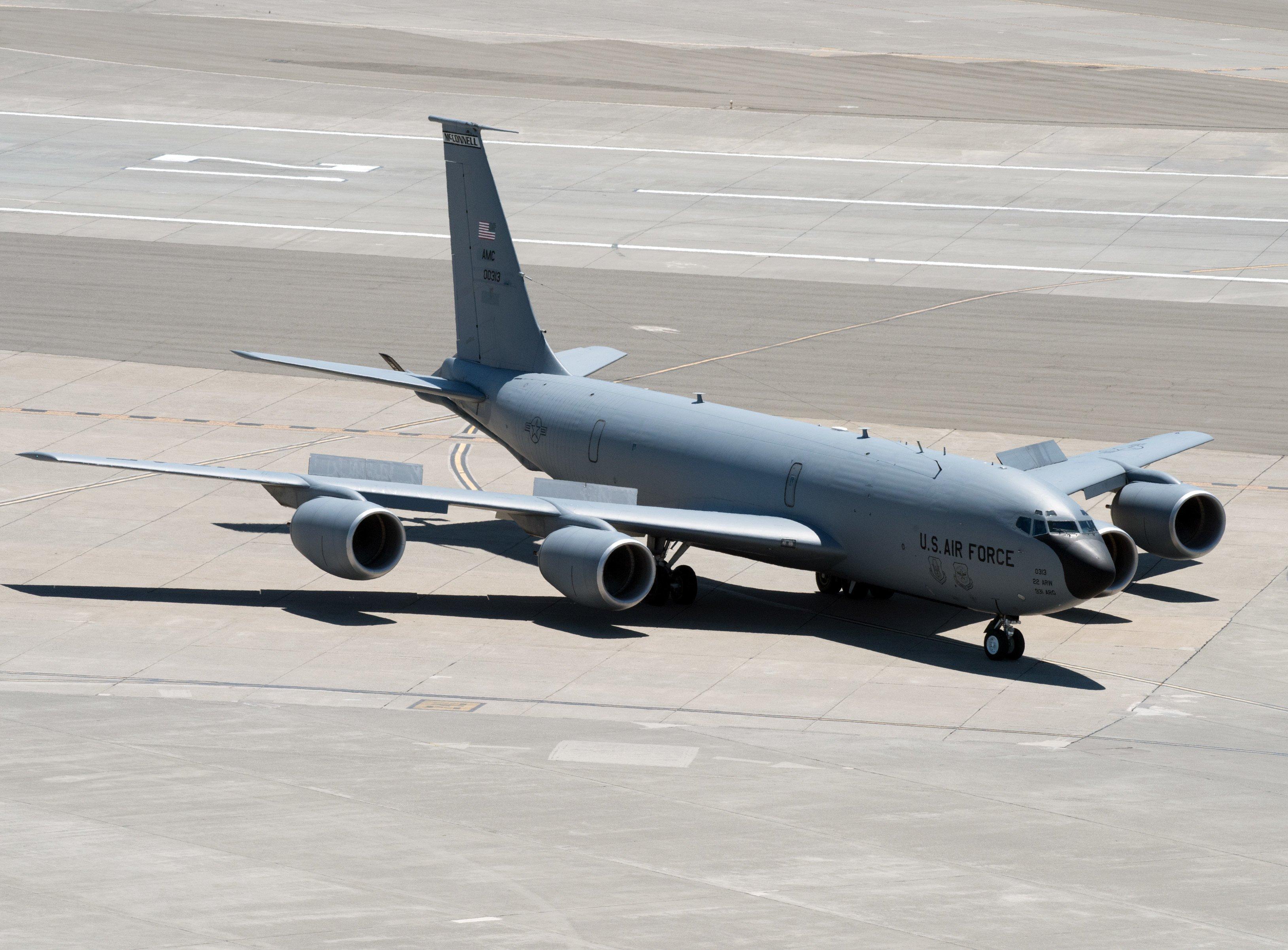 KC-135 at Travis AFB on 18-05-17 [USAF/Louis Briscese]