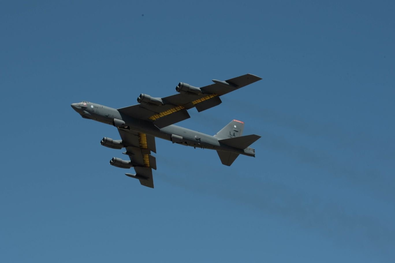 B-52H departs Moron AB Spain May 24 2021 [USAF/2nd Lt Aileen Lauer]