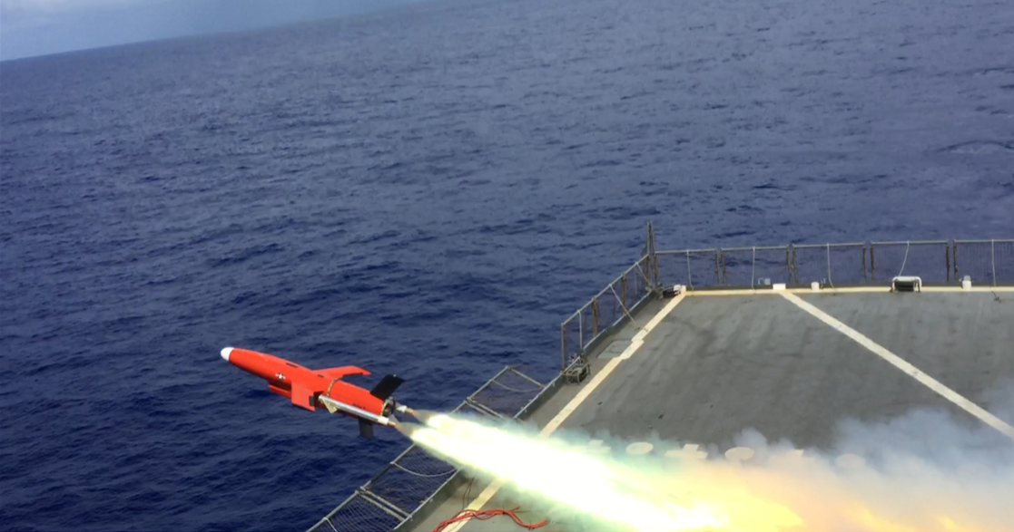 BQM-177A test flight from USS Barry 09-09-21 [US Navy]