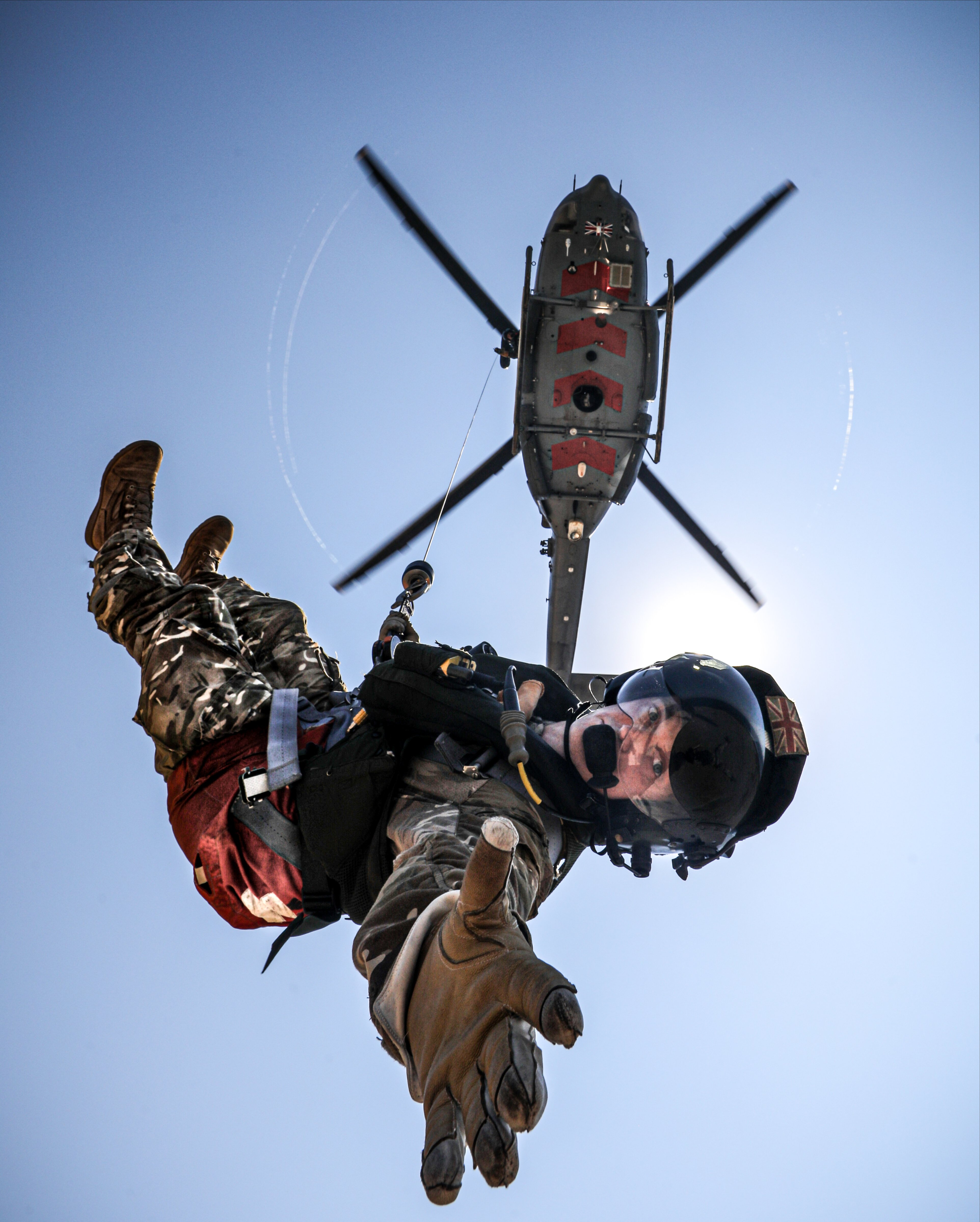 Griffin HAR2 and winchman [MoD Crown Copyright/Cpl Phil Dye]
