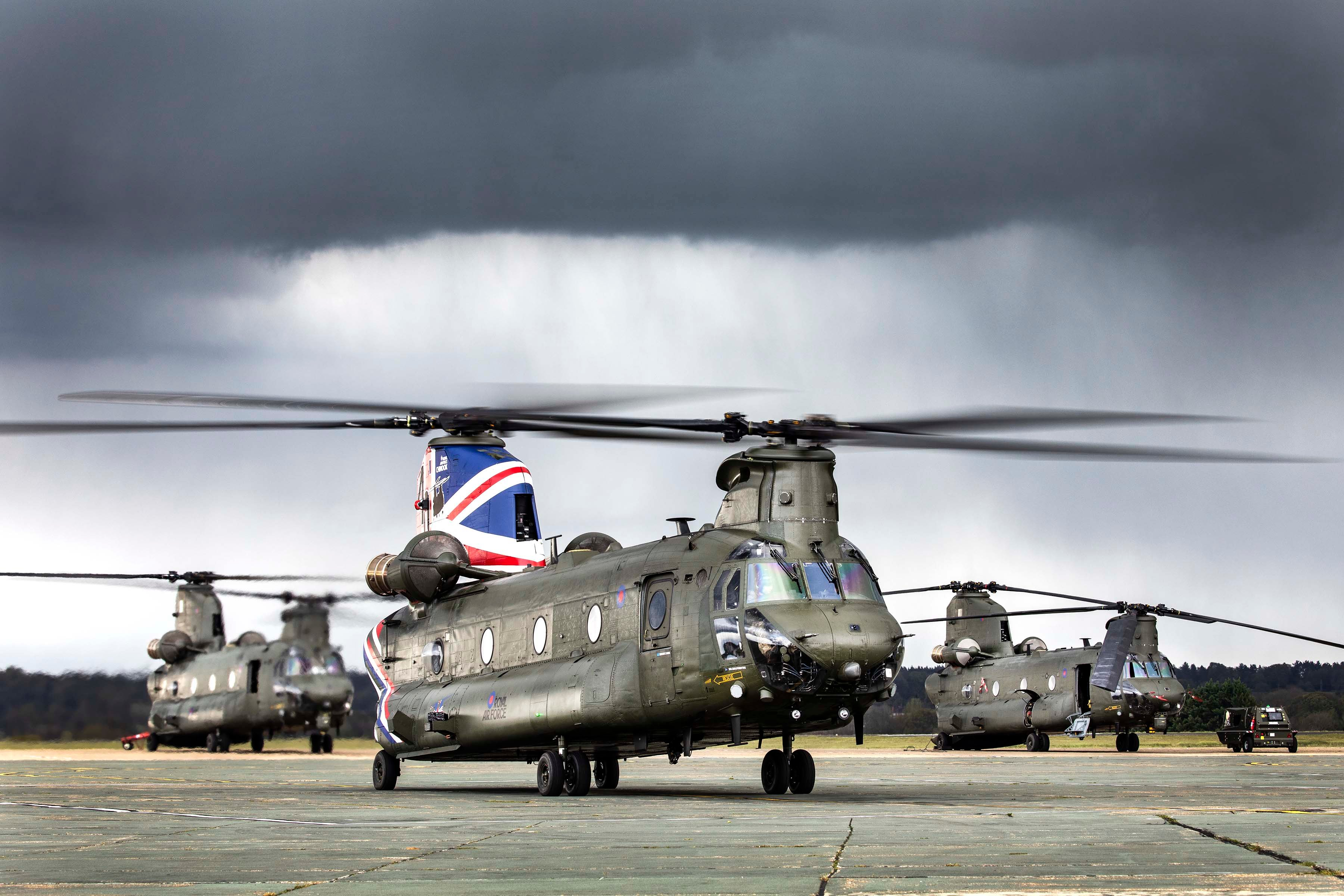 Chinook HC6A 40th Anniversary of Ops scheme [MoD Crown Copyright/Cpl Tim Laurence]