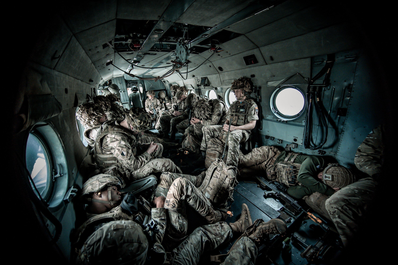 British soldiers aboard a Polish Hip [MoD Crown Copyright/Capt Sam Davies]