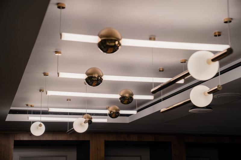 Centurion Lounge LHR lighting
