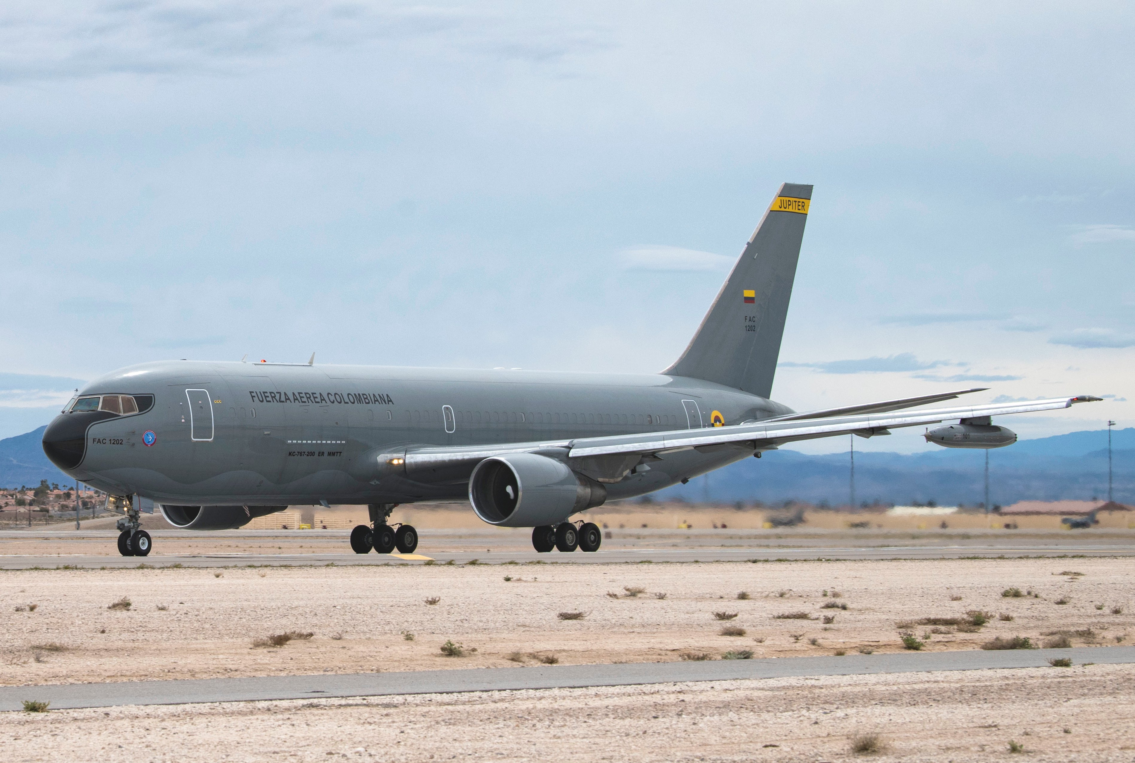 Colombian AF KC-767 Red Flag March 2019 [USAF/Airman 1st Class Bailee A Darbasie]