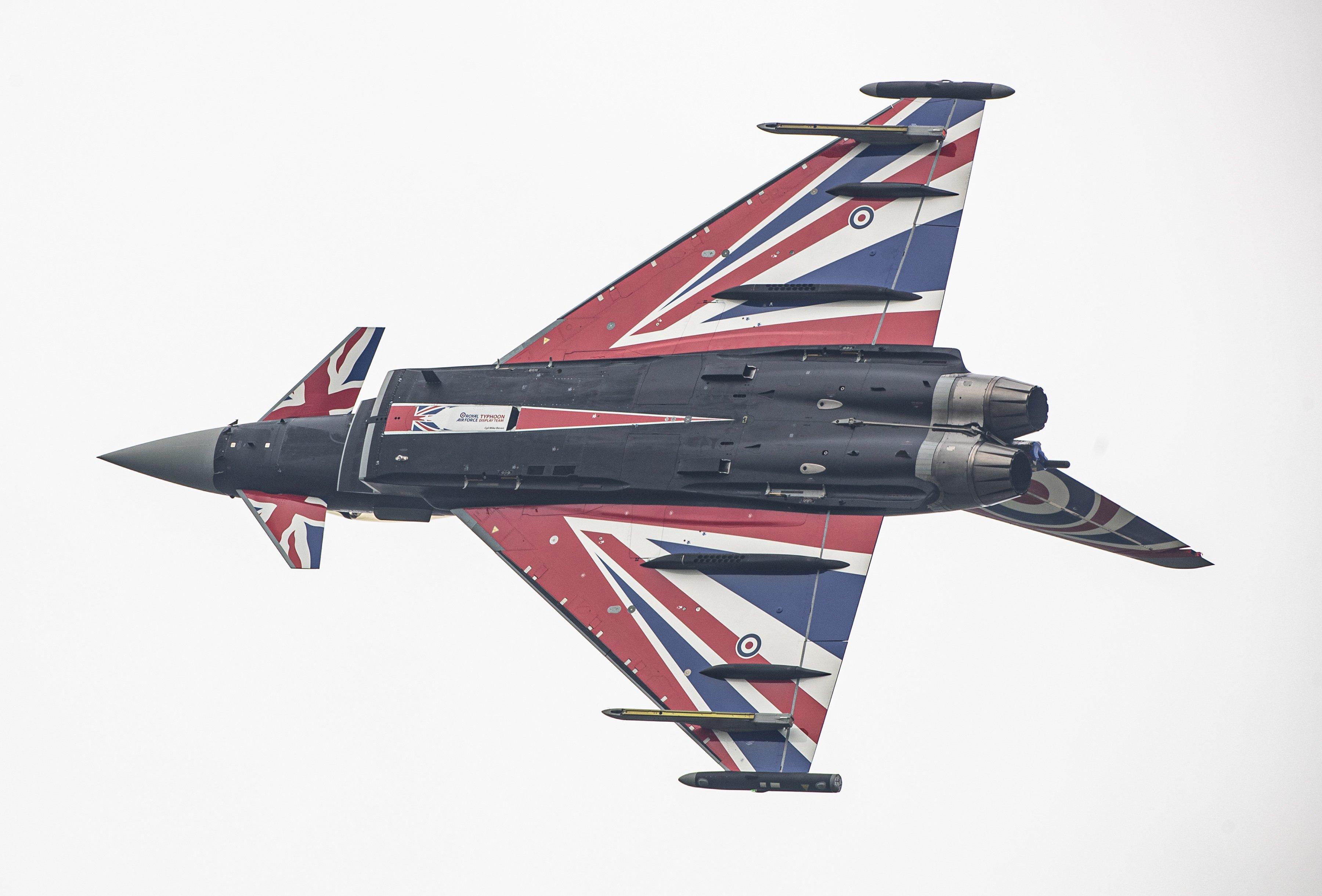 Eurofighter Typhoon FGR4 Union Jack Paint Scheme [MOD Crown Copyright/Sgt Paul Oldfield]