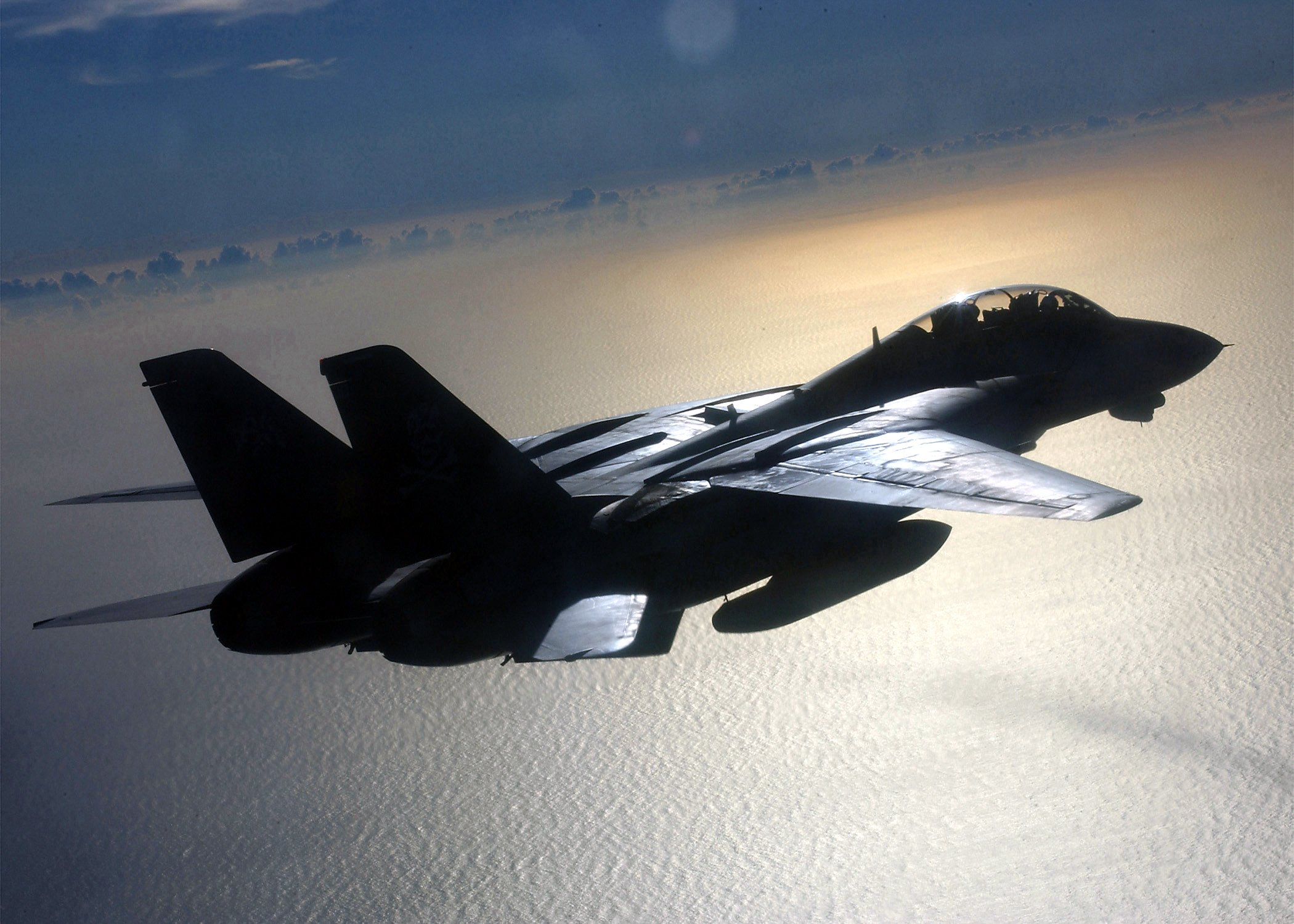 The first 'Top Gun' movie made the F-14 Tomcat famous with the general public and features in the sequel's trailers. This Tomcat was with VF-103 when photographed over the Mediterranean Sea. US Navy/Capt Dana Potts