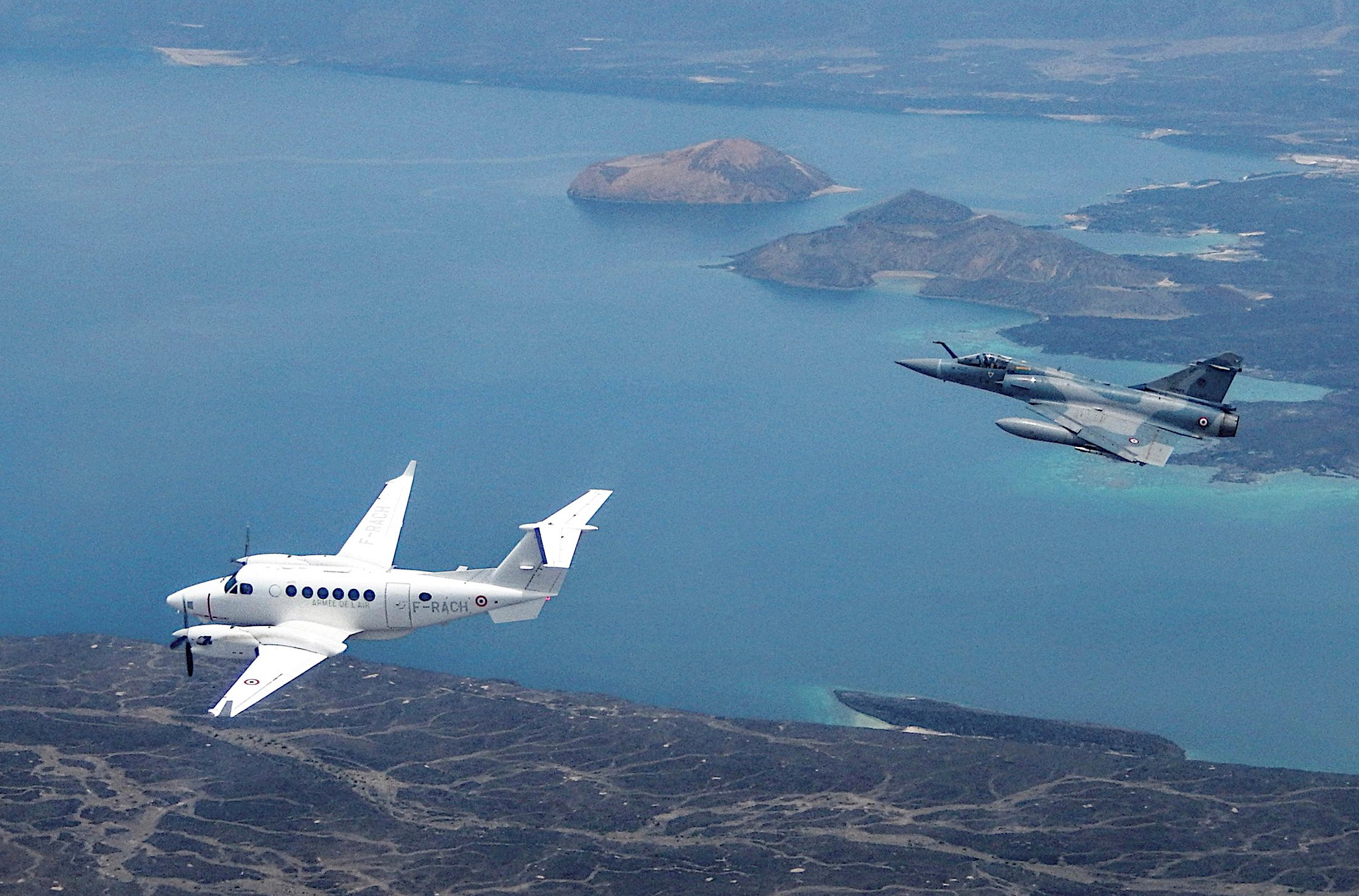 AAE King Air 350ER VADOR and Mirage 2000 [AAE/EC 03.011 'Corse']