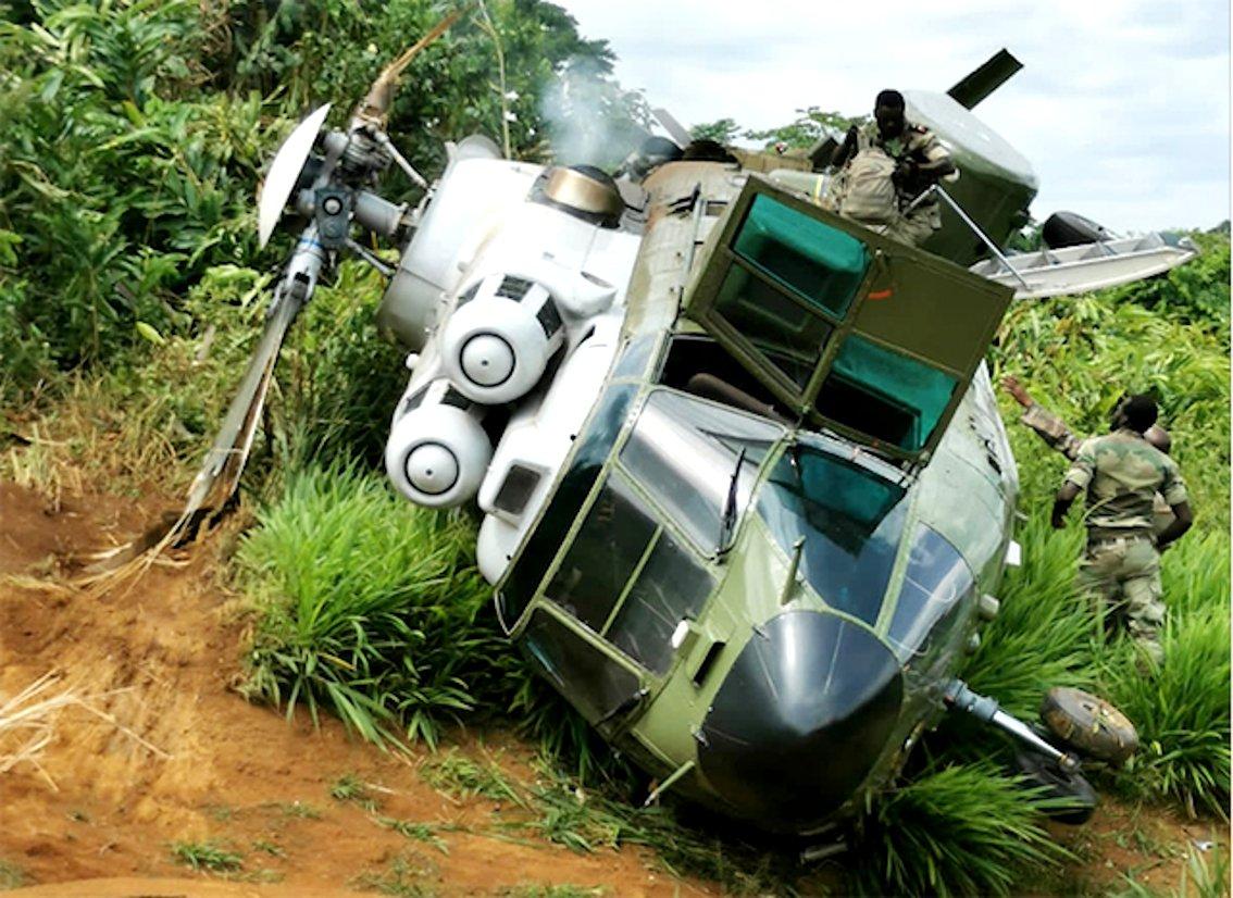 Gabonese Super Puma crash [Gabonese government]