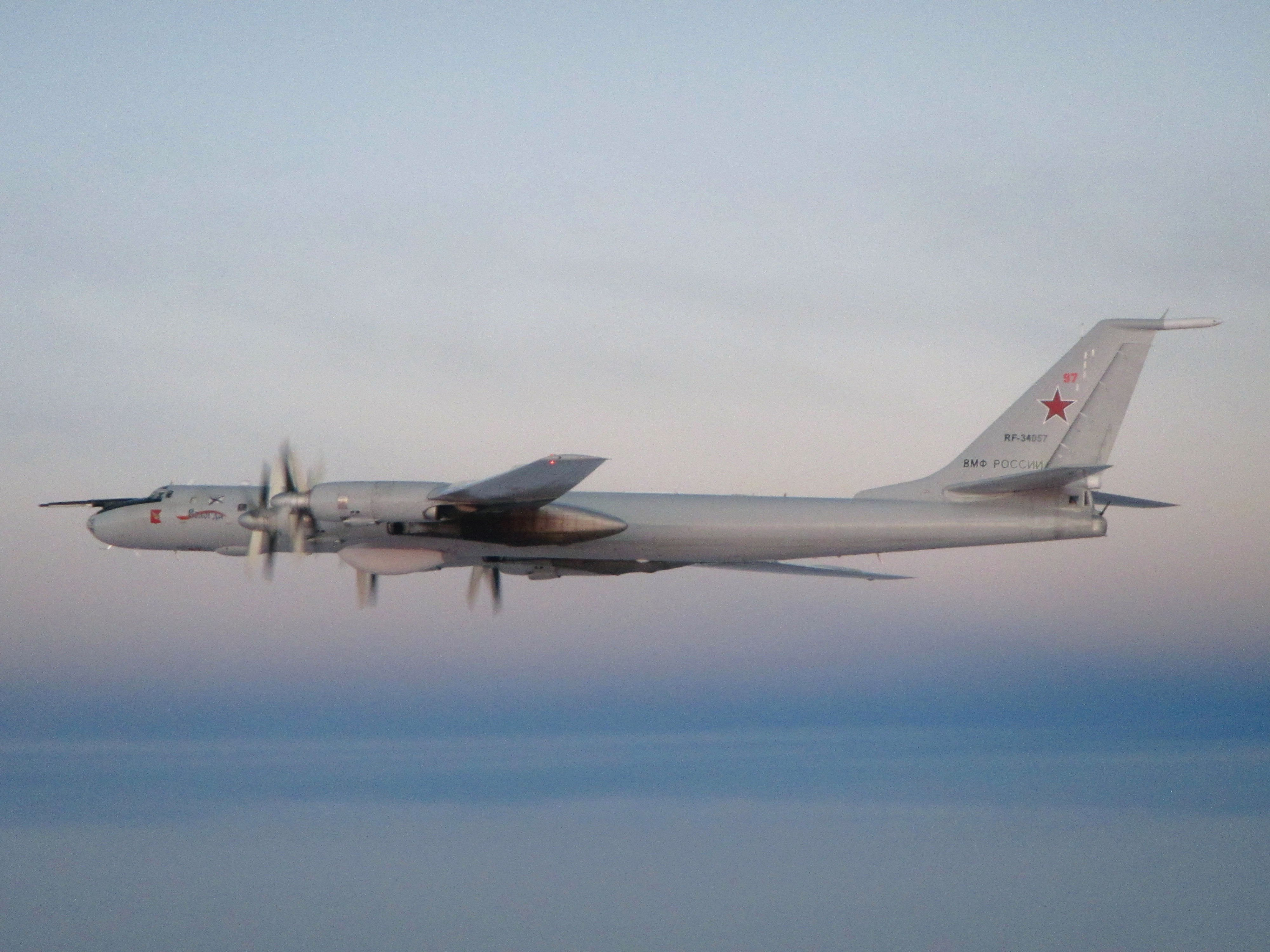 Russian Navy Tu-142 [MoD Crown Copyright]