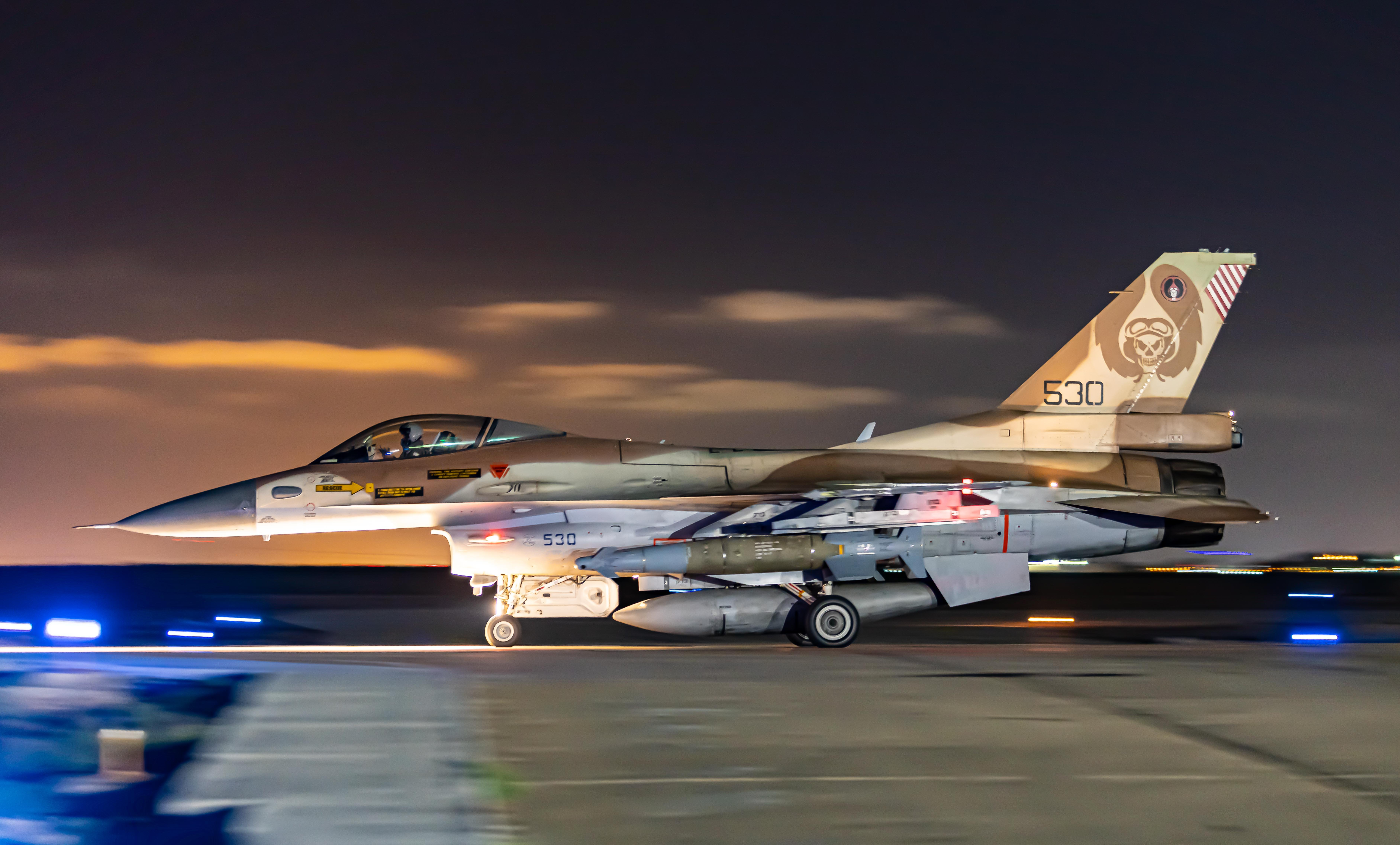 101st 'The First Fighter' Squadron F-16C Block 40 at Hatzor 18-05-21 [IAF/Amit Agronov]