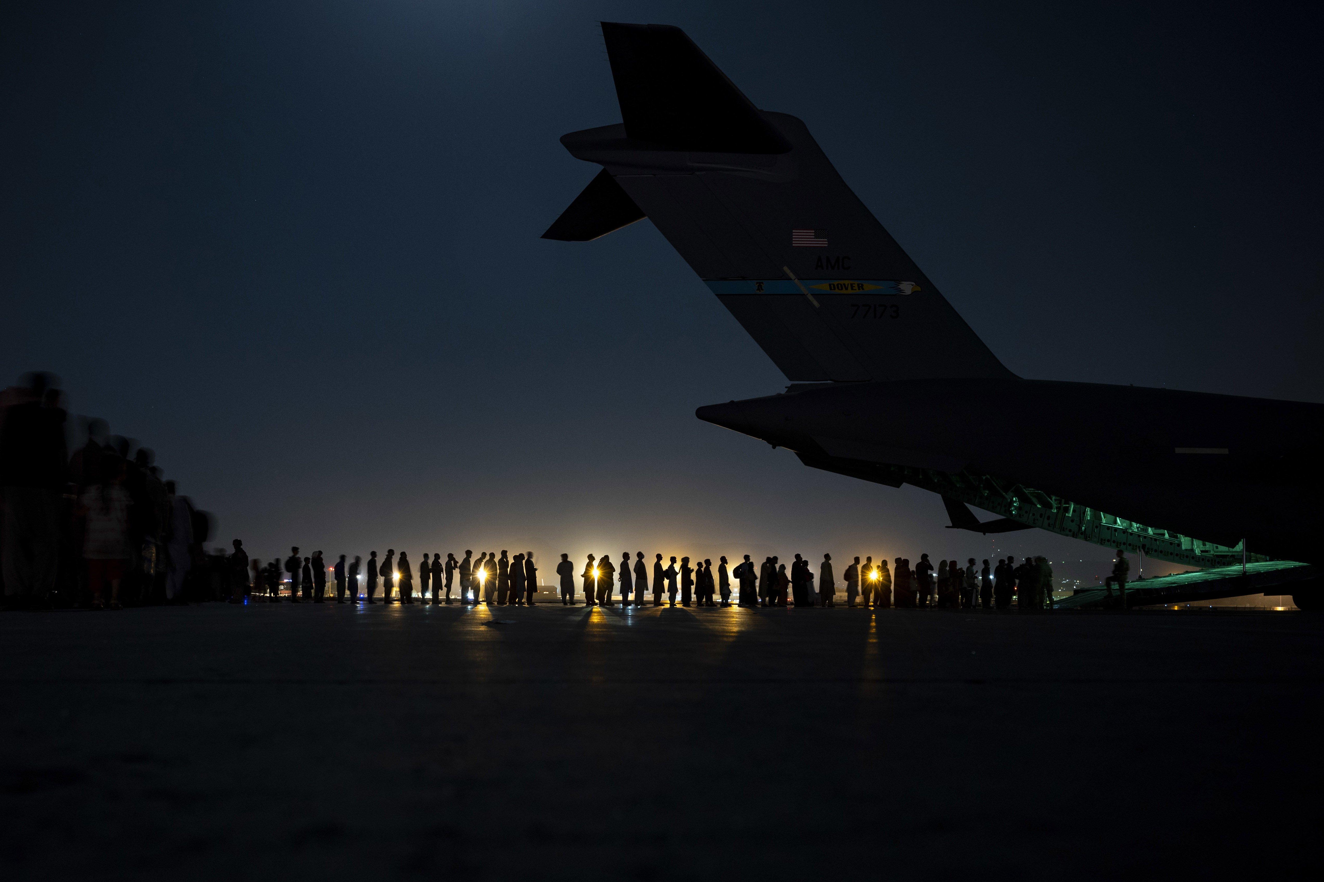 USAF C-17A in Kabul 21-08-21 [USAF/Senior Airman Taylor Crul]