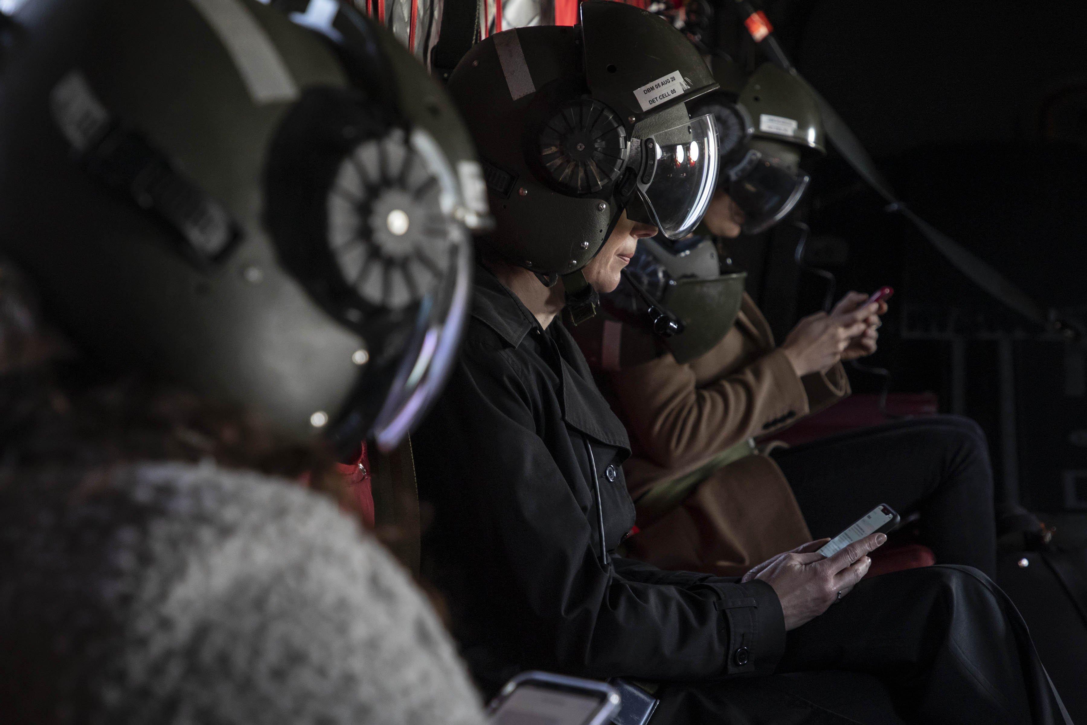 NHS staff on RAF Chinook [MoD Crown Copyright/SAC Charlotte Hopkins]
