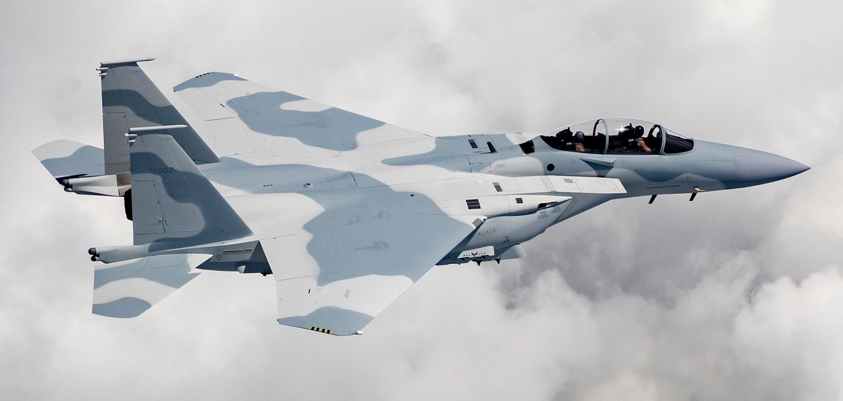 Qatari F-15QA in flight [Boeing]