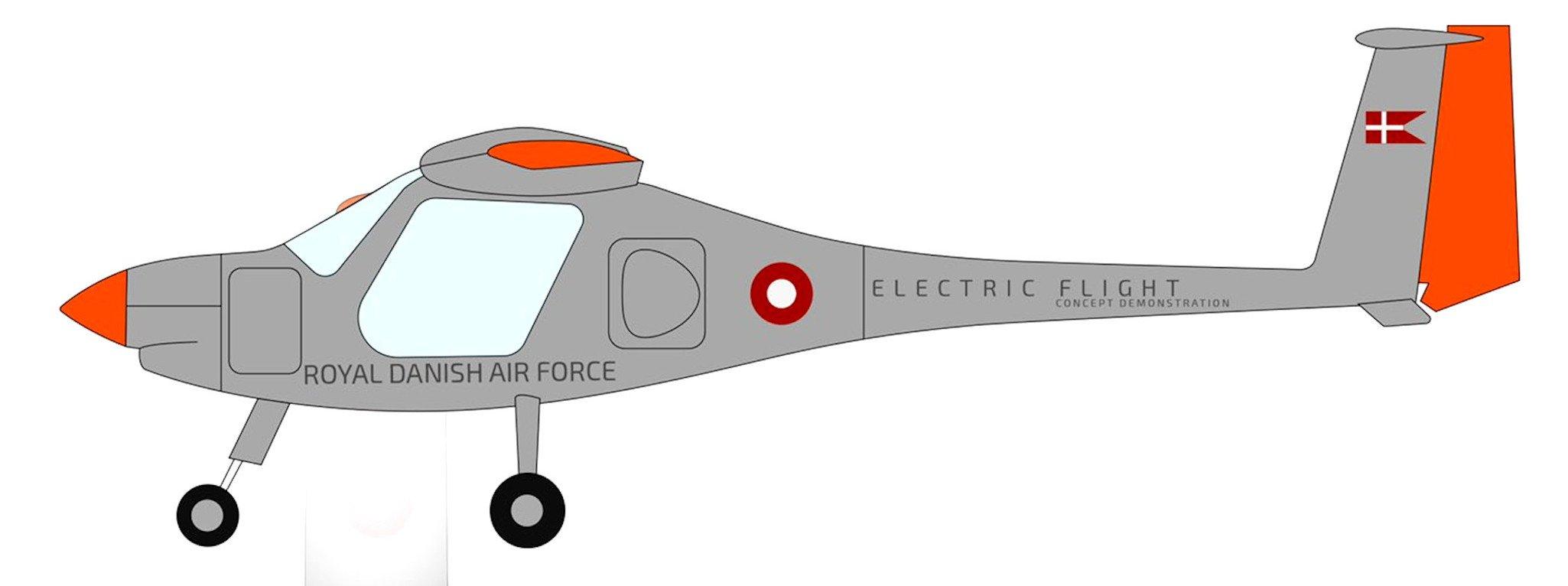 Pipistrel Velis Electro in Danish AF colours [Forsvarsministeriet]
