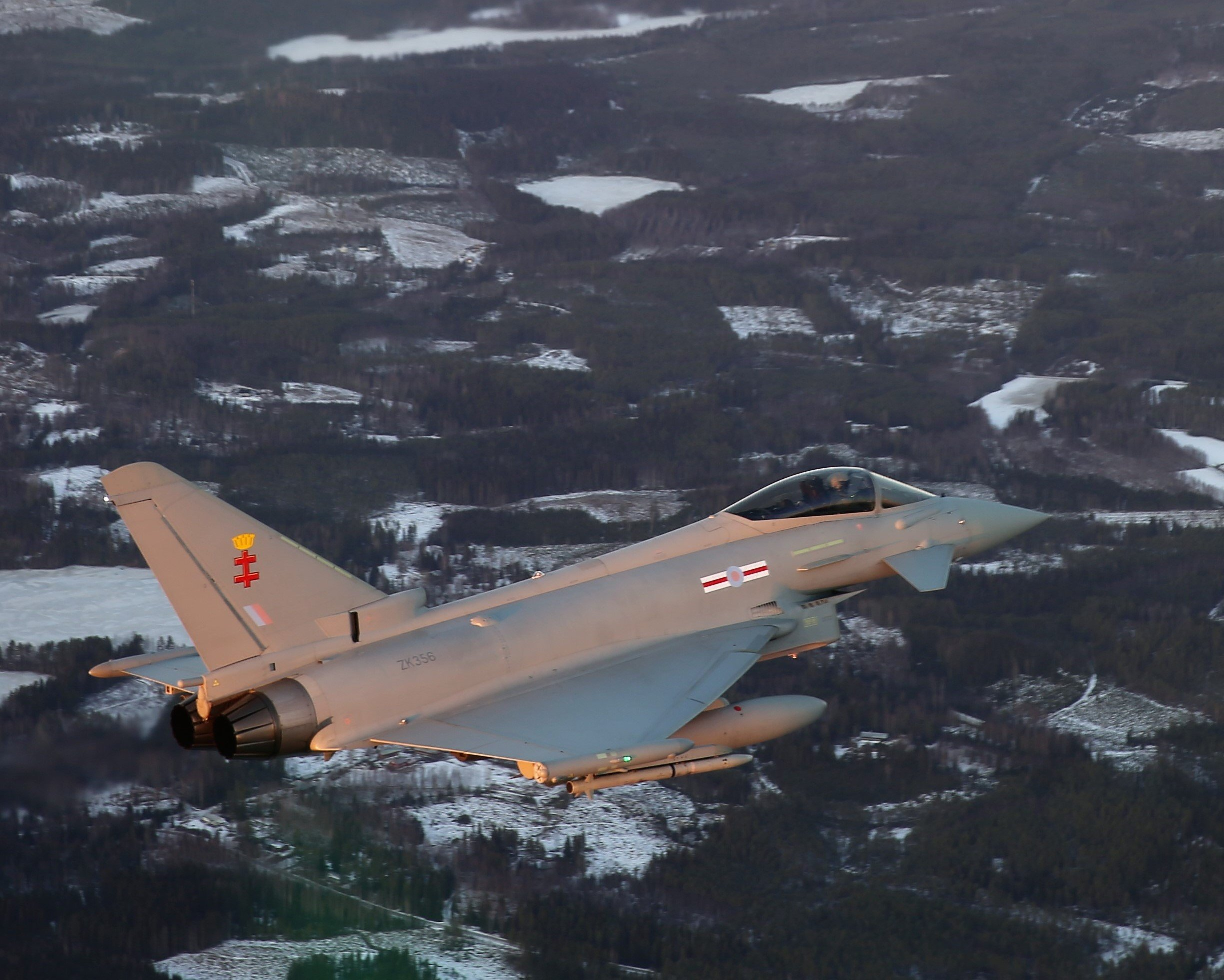 RAF Typhoon over Finland [BAE Systems]