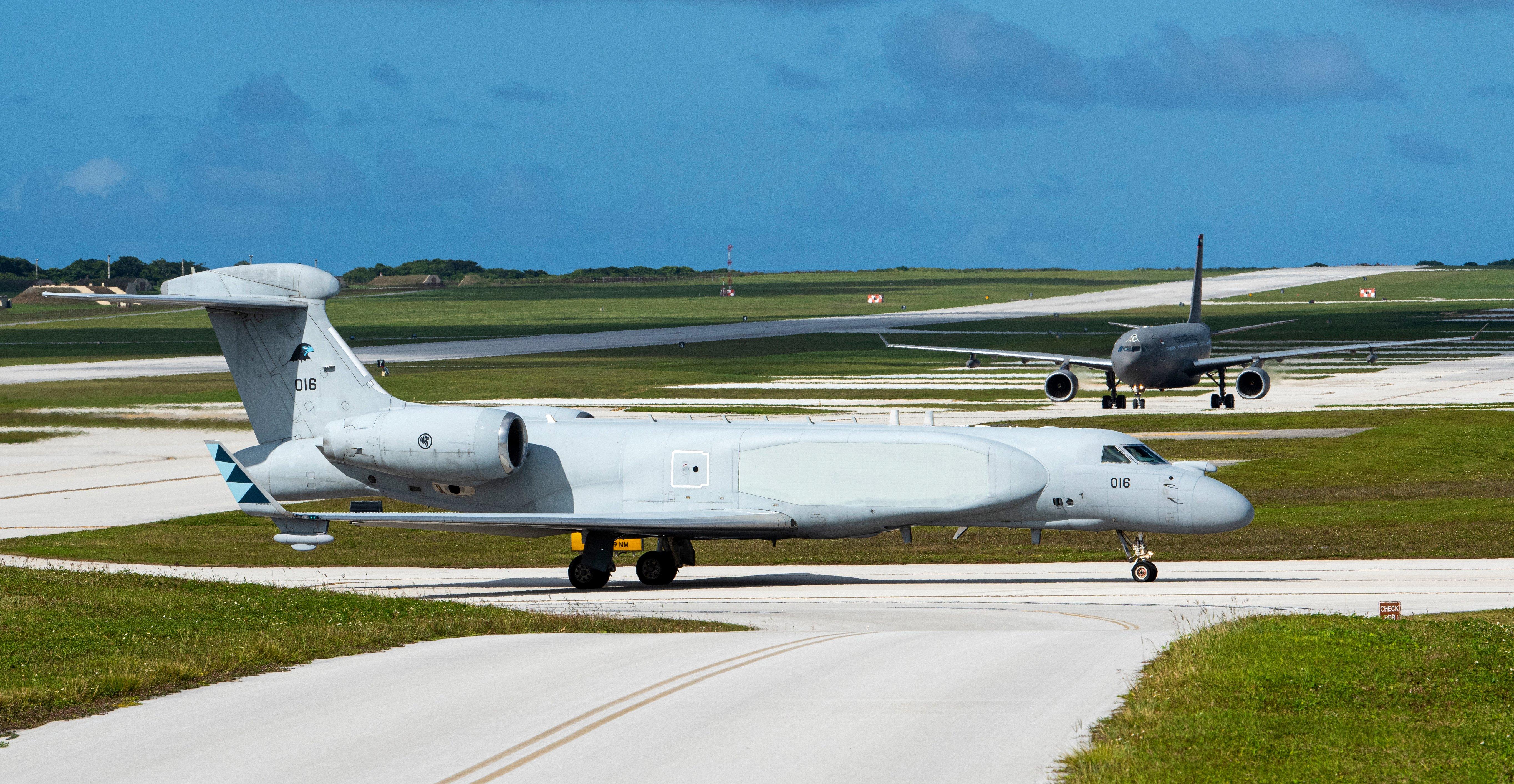 RSAF G550 CAEW at Andersen AFB on May 24 2021 [USAF/Senior Airman Michael S Murphy]