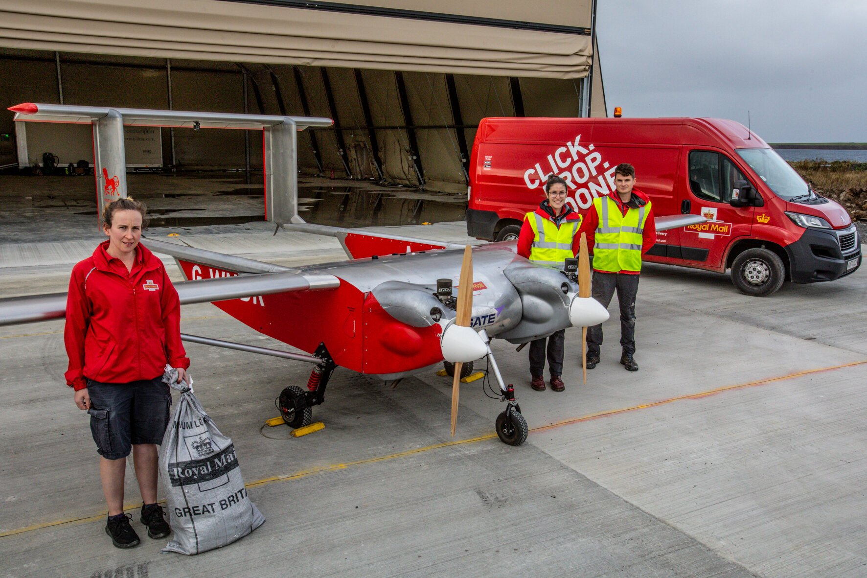 Royal Mail staff with Windracers ULTRA