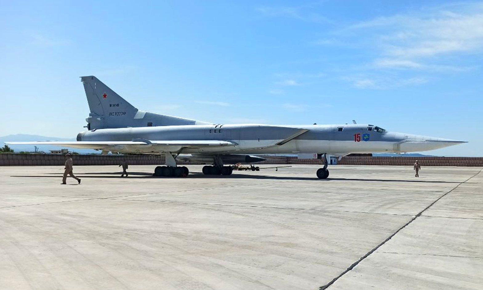Russian Tu-22M3 arrives in Syria [Russian MOD]