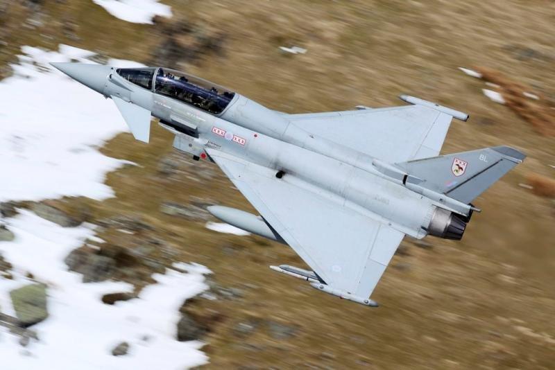 RAF Typhoon in the Mach Loop