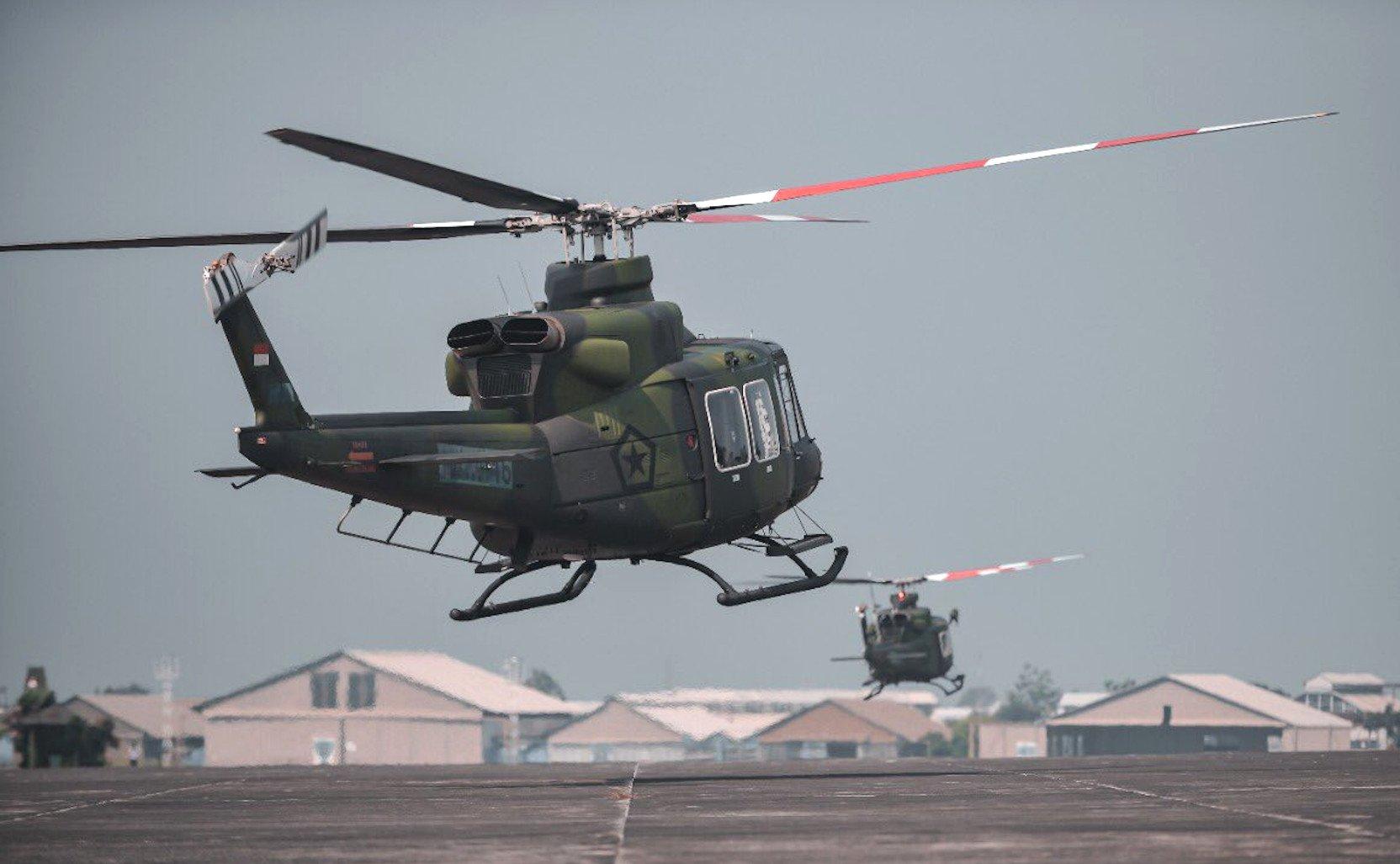 Bell 412EPi deliveries TNI-AD 21-7-21 [PTDI]