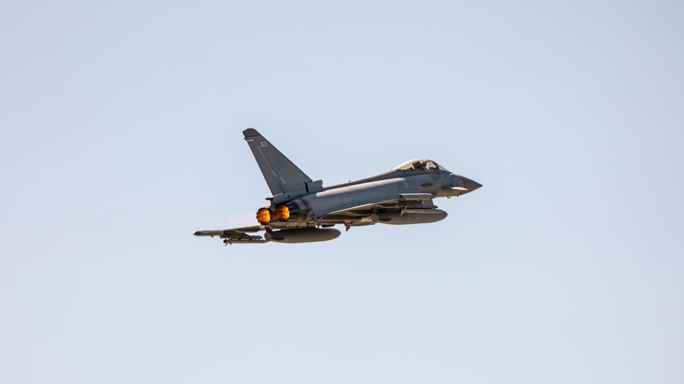 Typhoon FGR4 QRA from Romania 17-08-21 [MOD Crown Copyright]