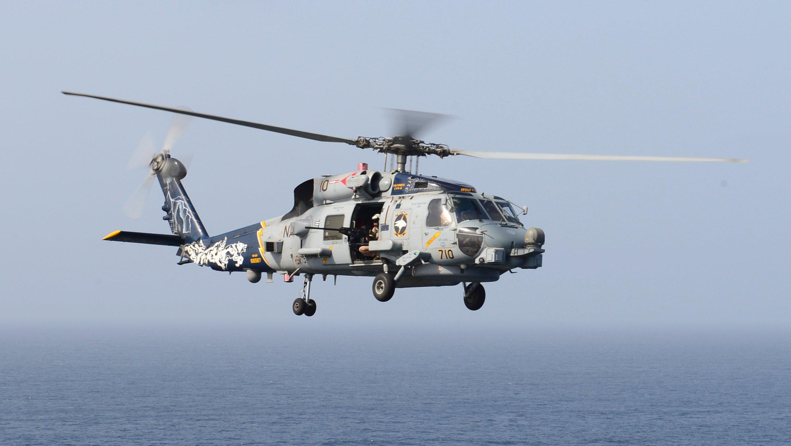 US Navy MH-60R HSM-75 over Gulf of Oman [US Navy/Mass Communication Specialist Seaman Derek A Harkins]