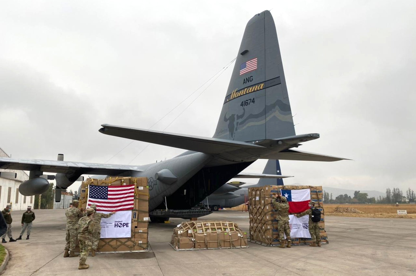 US donates C-130H to Chile [US Embassy in Chile]