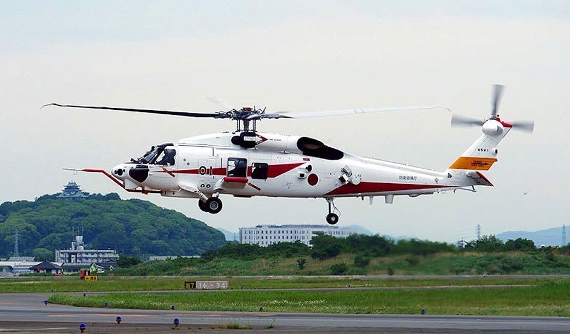 XSH-60L prototype first flight [MHI]