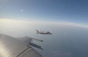 RSAF F-16 and UK F-35B