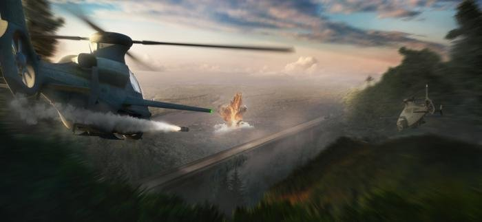 Bell 360 Invictus in combat