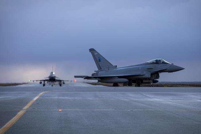 Two RAF Typhoons - Iceland [MoD Crown Copyright]