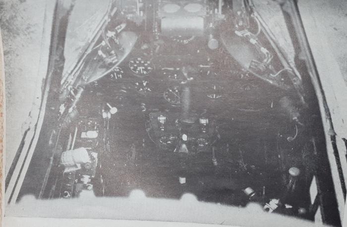 Gloster Meteor cockpit