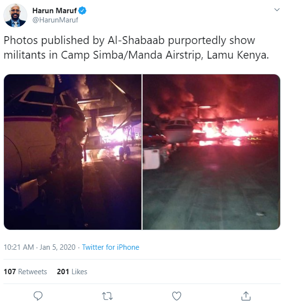 Twitter Pic [US Africa Base Terror Attack]