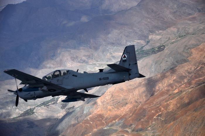 Afghan A-29B Super Tucano in flight [USAF/Capt Eydie Sakura]