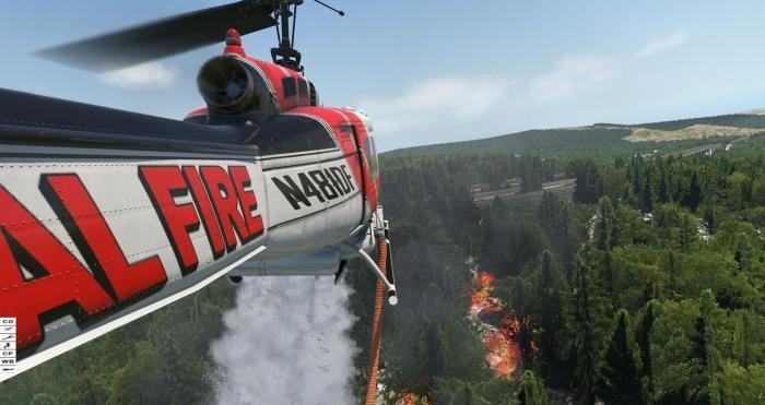 Nimbus Simulation civilian UH-1 helicopter for X-Plane 11