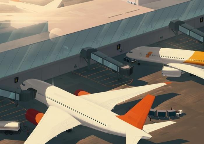 ADB Safegate airport gate concept