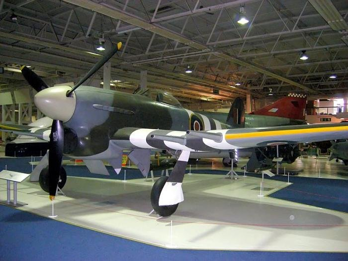 Last remaining full bodied Hawker Typhoon