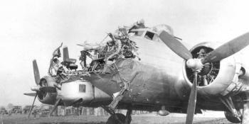 Damaged B-17