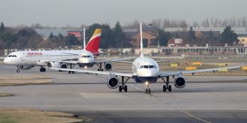 British Airways and Iberia Airbus'