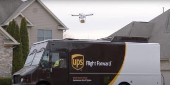UPS Van with Drone