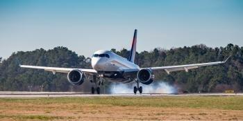 DAL A220 Landing