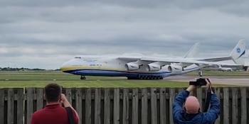 An-225 landing at Brize Norton