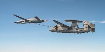 MQ-25 refuels E-2D