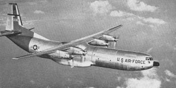 A USAF Douglas C-133A Cargomaster.