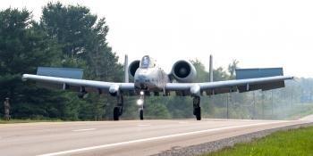 A-10C highway landing