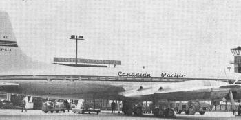 Canadian Pacific Air Lines Britannia at Vancouver.