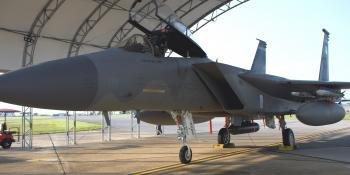 85 TES F-15C with Legiod Pod