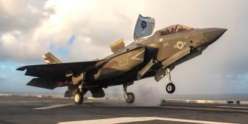 VMFA-211 F-35B on USS America