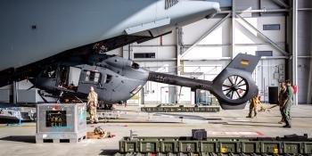 German H145M load onto A400M